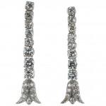 Art Deco Diamond Platinum Dangle Earrings