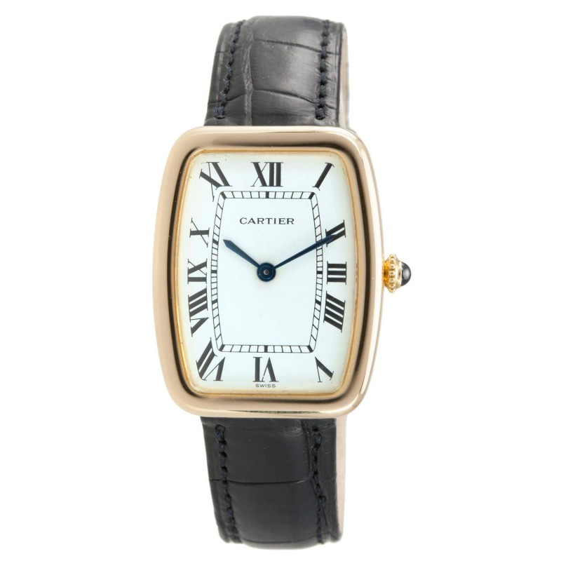 "Cartier Large ""Square Incurvee"" 18K Gold Wristwatch, Circa 1980s"