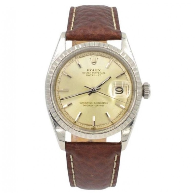 Rolex Steel DateJust Wristwatch Ref 1603 Circa 1966