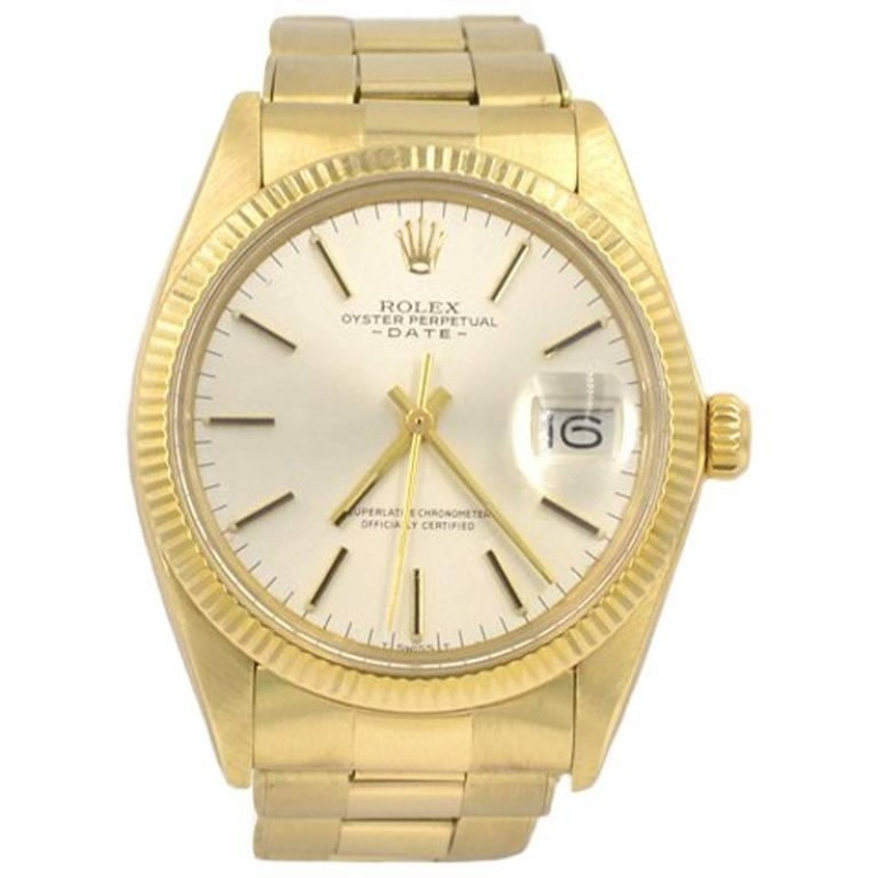 Rolex 14K Yellow Gold Date Wristwatch, Ref 1503, 1981