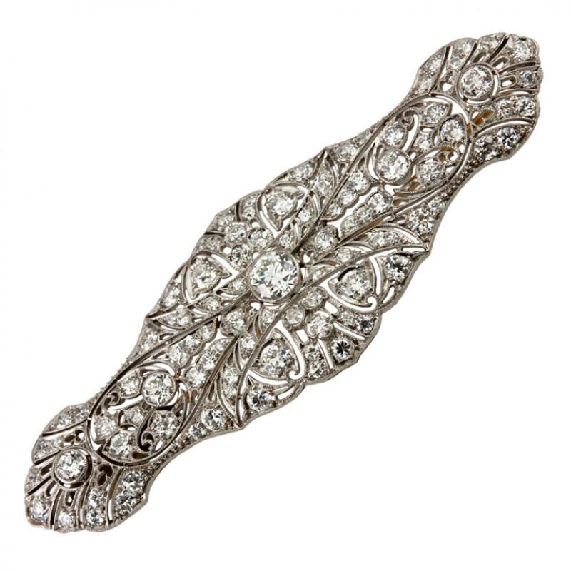 TIFFANY & CO. Edwardian Diamond Brooch
