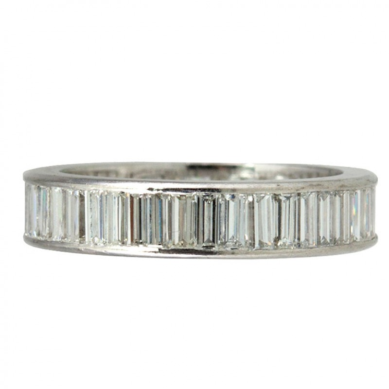bands baguette baguetteringonfinger heidi gibson eternity designs diamond platinum band