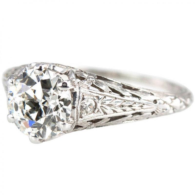Edwardian 1.17 Carat Diamond Ring