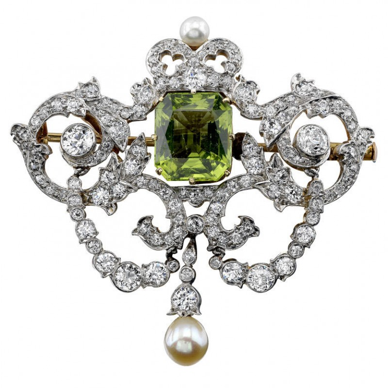 Tiffany & Co. Victorian Peridot Brooch