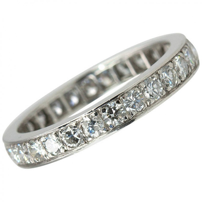 1940s Diamond Eternity Band Ring