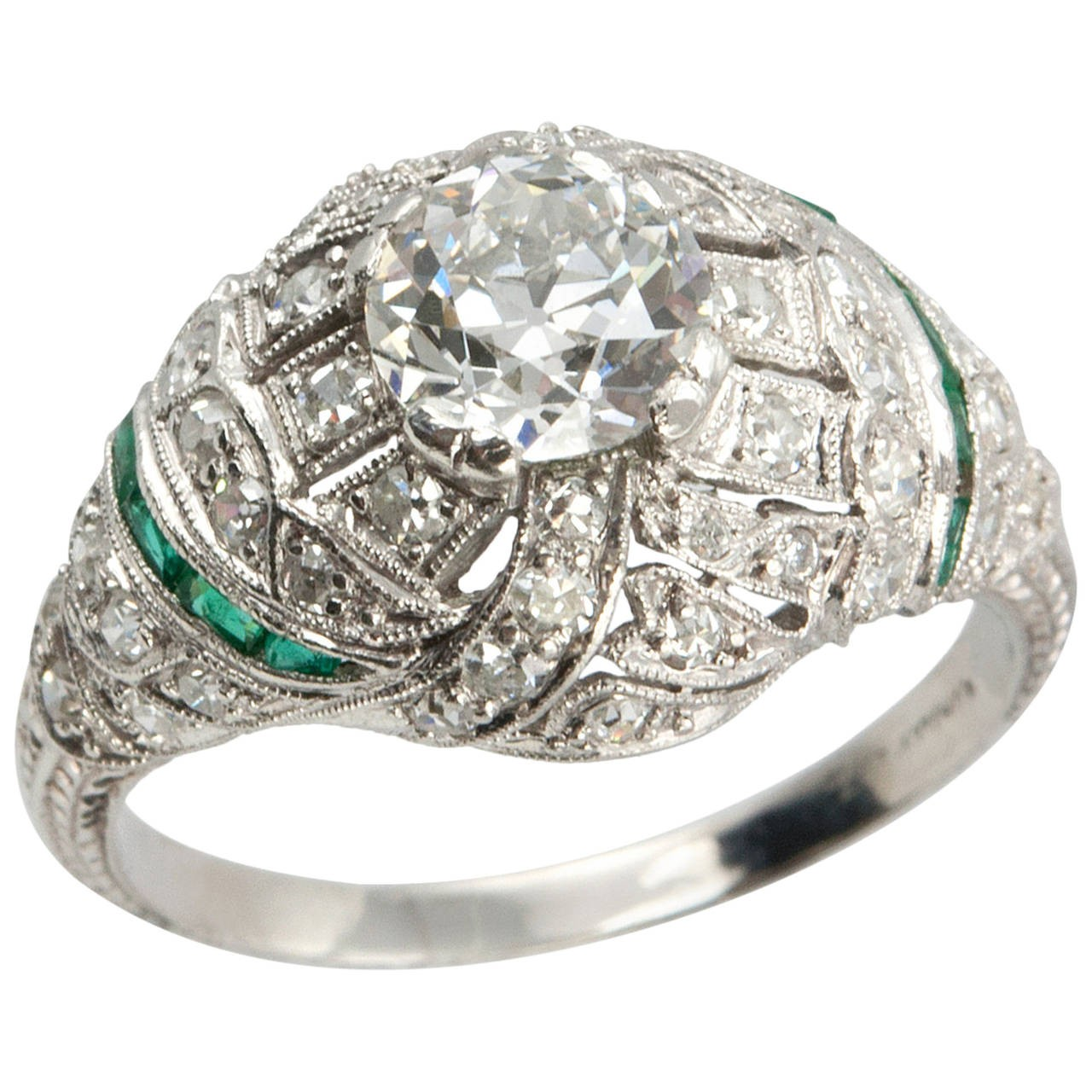 rings engagement baguette unique market ring er diamond mount semi product accented
