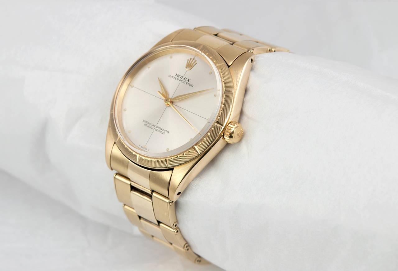 Rolex Zephyr Gold Watch, Ref 1008, Circa 1960s , About