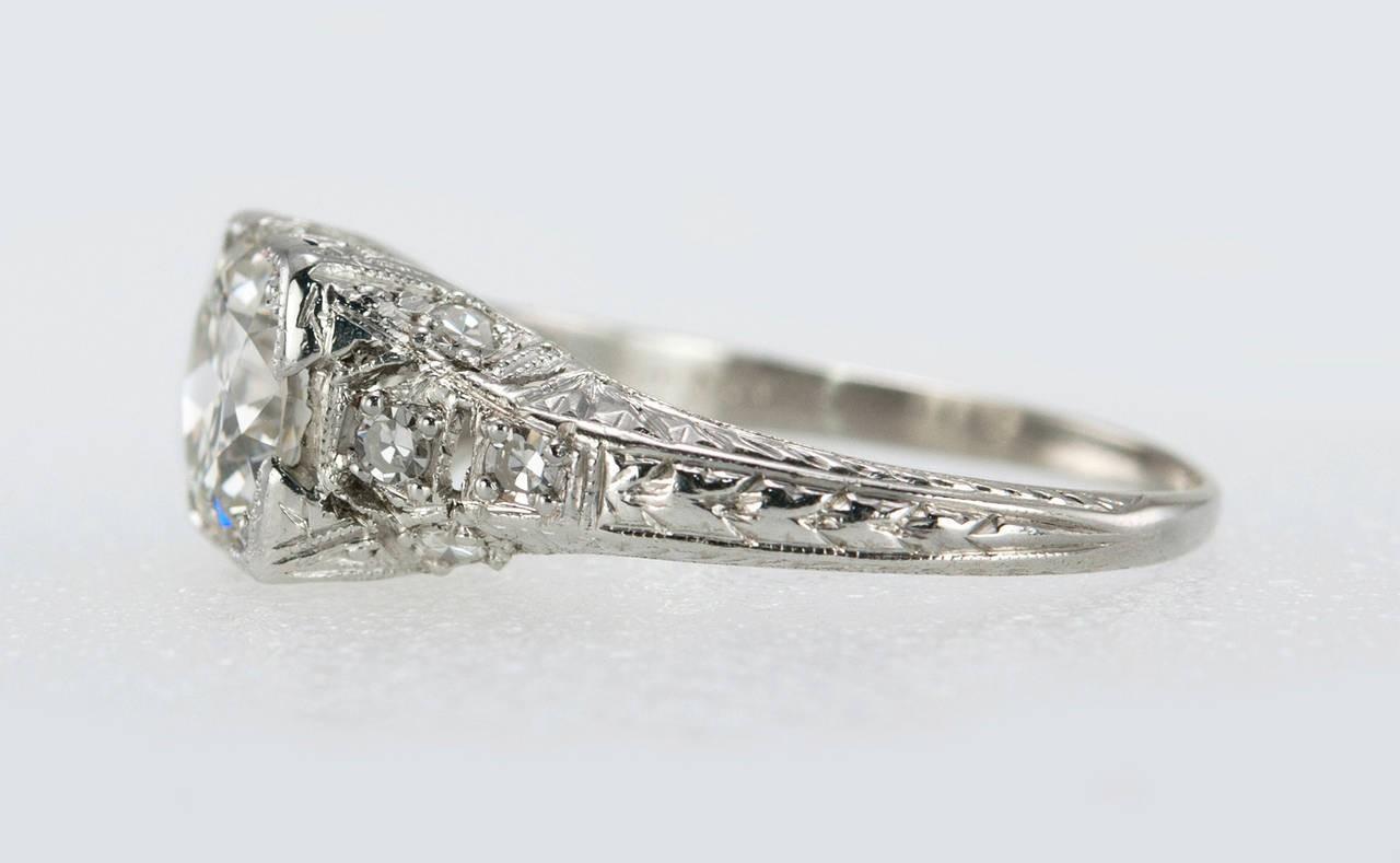 152 Carat Diamond Edwardian Engagement Ring Circa 1915