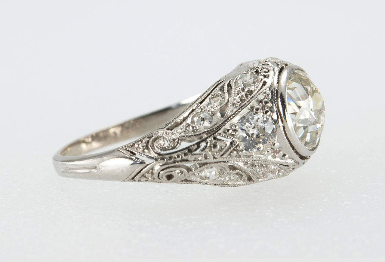 rings media white art diamond gold vintage ring intricate edwardian style deco late engagement filigree