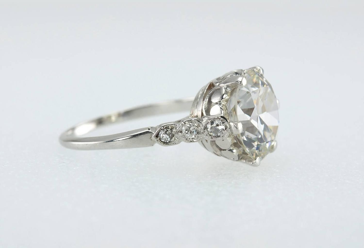 cut small ctw stone table very condition chip sz vintage good european engagement rings three ring on products old
