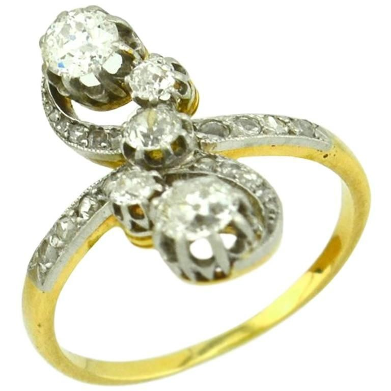 Antique Old European Cut and Rose Cut Diamond Ring