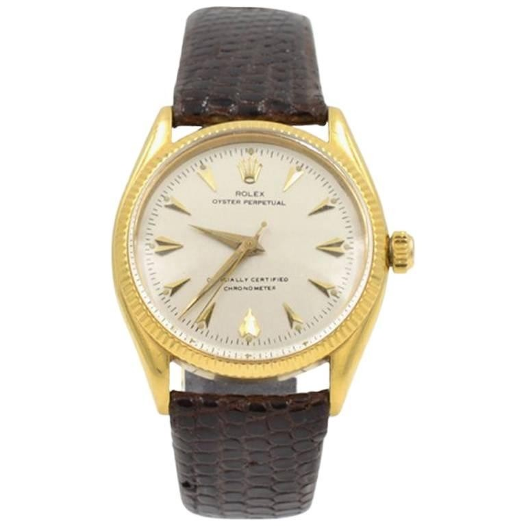 Rolex 18K Gold Oyster Perpetual Chronometer Wristwatch, Ref 6567, Circa 1967