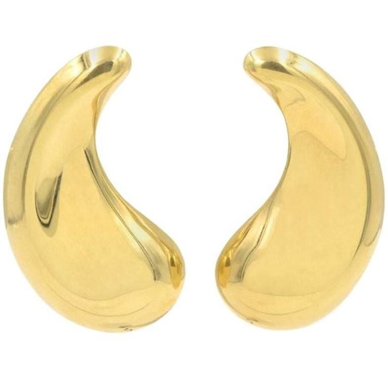 Elsa Peretti for Tiffany & Co 18K Gold Paisley Teardrop Earrings