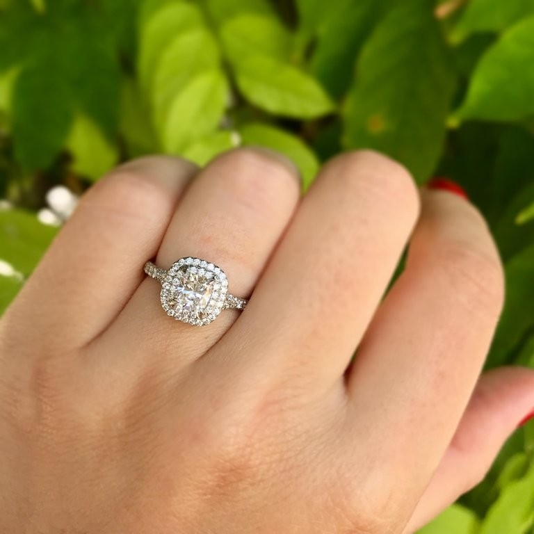 0c7a5cdb985 Tiffany   Co. Soleste 0.71 Carat Cushion Cut Diamond - Engagement ...