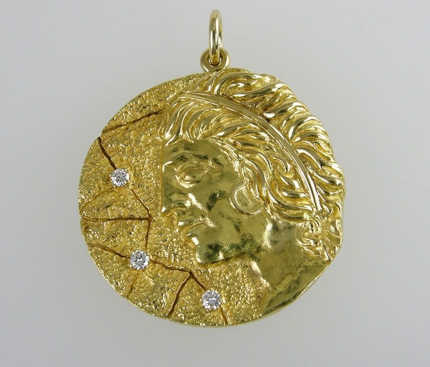 sarah zodiac coventry gold jewelry tone vintage pin scorpio necklace medallion