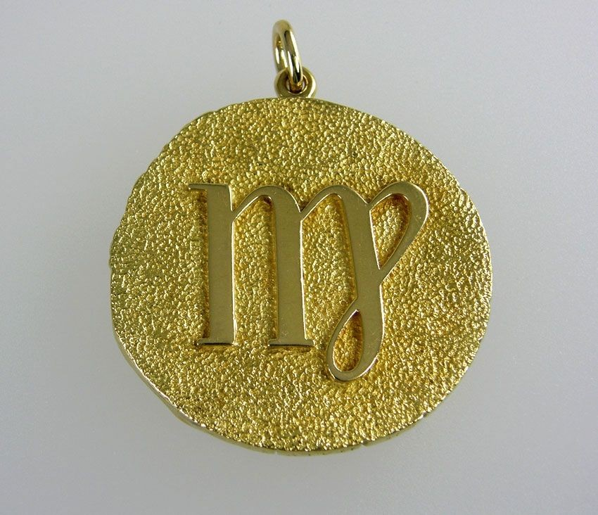 zodiac roberts scorpio search il signed sterling vintage lxxn etsy medallion silver gilroy necklace