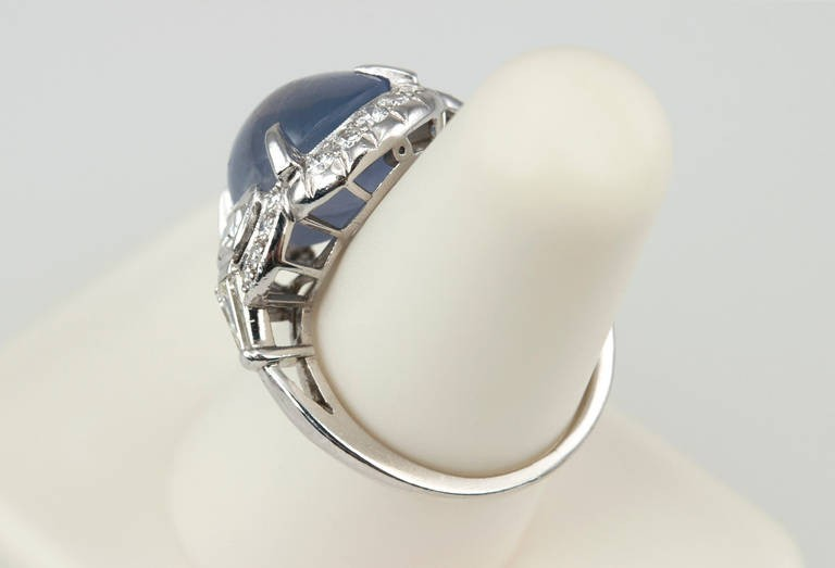 womens ring sapphire rings engagement gold blue white cabochon ct diamond