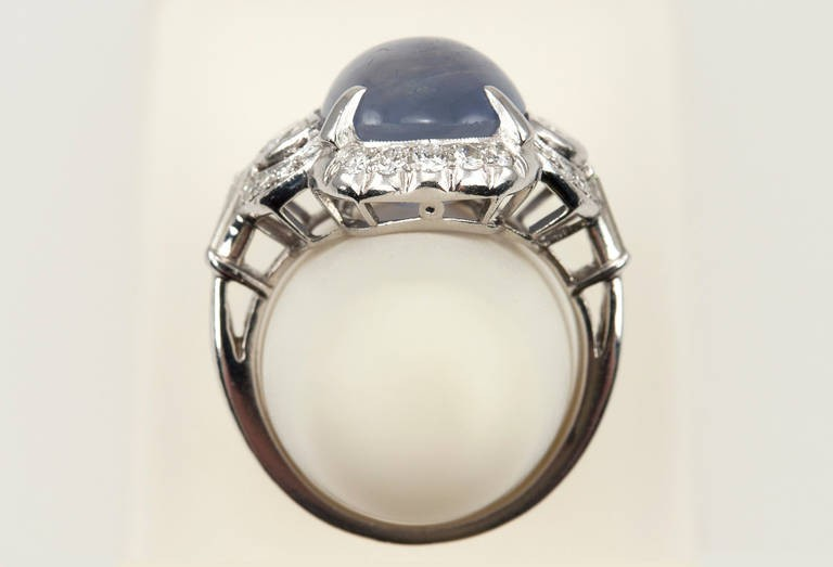 page san ring fds cabochon engagement francisco vintage black product rings oval file opal