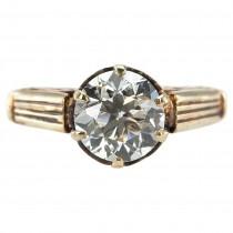 1.60 Carat Victorian Diamond Solitaire Engagement Ring
