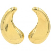 Elsa Peretti for Tiffany & Co 18K Gold Paisley Teardrop Earrings