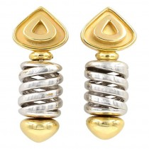 Marina B 18K Yellow and White Gold Earring Clips Circa 1980