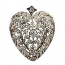 Large Diamond Heart Pin/Pendant