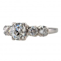 Antique 0.97 Carat Cushion Cut Diamond and Platinum Ring
