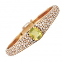 Victorian Citrine Diamond Bangle