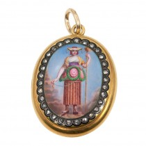 Painted Lady Locket