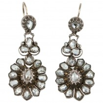 Rose Cut Diamond Victorian Earrings