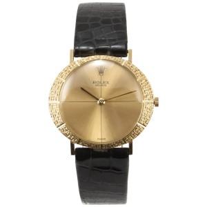 Rolex 18K Gold Dress Wristwatch, Ref 3613, Circa 1957
