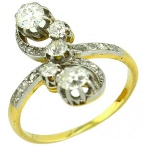 Antique Old European Cut and Rose Cut Diamond Ring