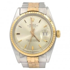 Rolex DateJust Wristwatch Two-Tone 18K Pink Gold and Steel, Ref 1601 Circa 1973