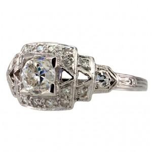 Art Deco Diamond .65ct Ring