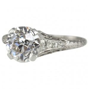 2.00 Carat Art Deco Engagement Ring
