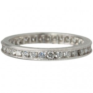 Diamond Eternity Band with Engraving