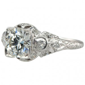Edwardian 1.05 Carat Diamond Engagement Ring