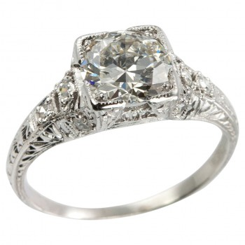1.52 Carat Diamond Edwardian Engagement Ring, Circa 1915