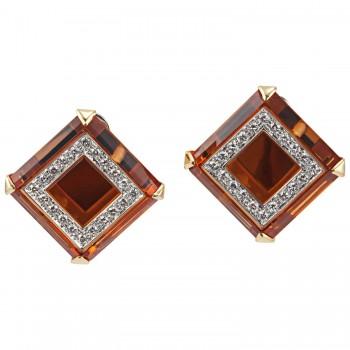 Legnazzi Citrine and Diamond Earrings