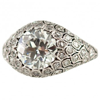 Fabulous Diamond Dome Ring