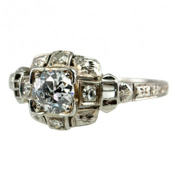 Deco .50 ct Diamond Ring