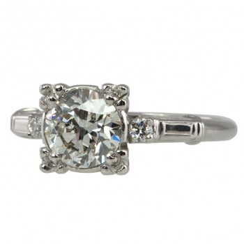 Old European Cut 1.17 Carat Diamond Ring