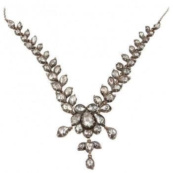 Victorian Rose Cut Diamond Necklace