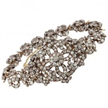 Victorian Link Bracelet w/Old Mine Cut Diamonds