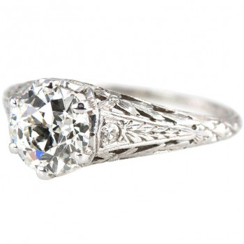 Edwardian 1.17 Carat Diamond Ring