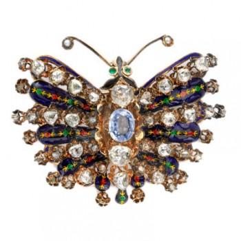 Victorian Butterfly Brooch
