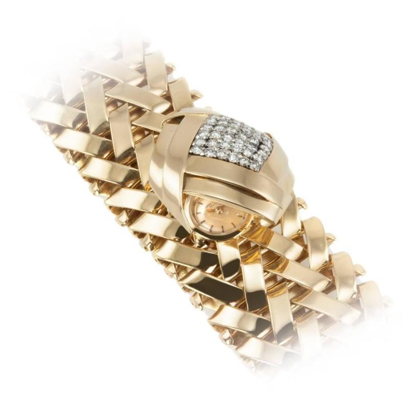 Vacheron & Constantine Gold and Diamond Bracelet Watch, Circa 1960s