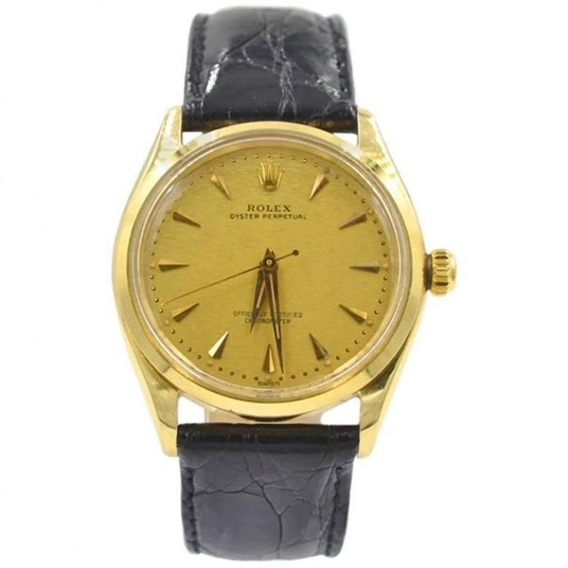 Rolex 14K Yellow Gold Oyster Perpetual Wristwatch, Ref 6567, 1959