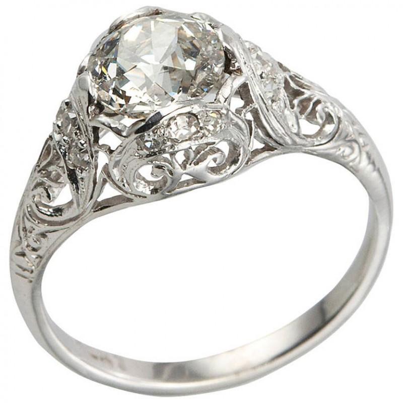 Edwardian 1.31 Carat Diamond Engagement Ring