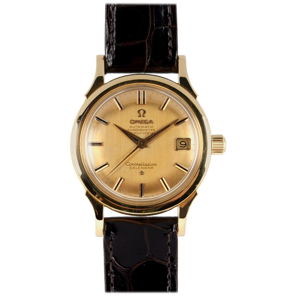 Omega 18K Gold Constellation Watch Circa 1960